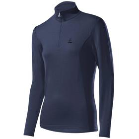 Löffler Basic Transtex Sweater met Rits met Opstaande Kraag Dames, grijs